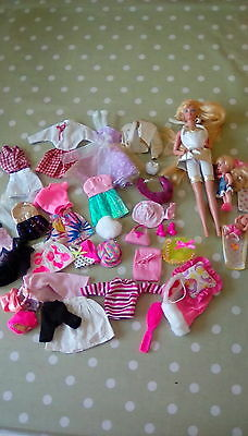 Barbie Sindy bundle dolls clothes and accessories