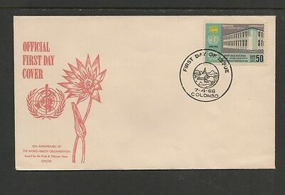 Ceylon / Sri Lanka  FDC 1968 WHO