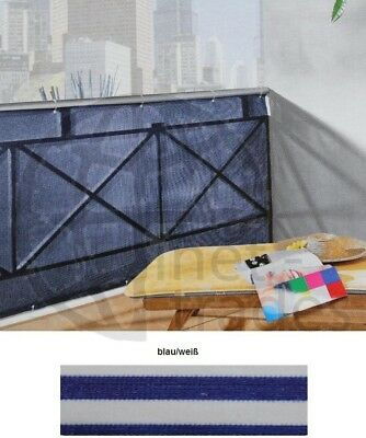 Screen Blue White for Balcony 500 x 90 cm Screen on the side panelling