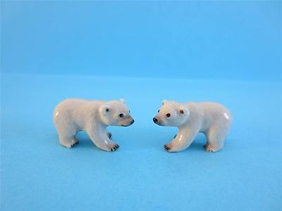 New Dollhouse Northern Rosetwo Super Minis Polar Bear Figurine W/white Box
