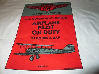 New PHILLIPS 66 Aviation Products Airplane Pilot On Duty T Shirt Large