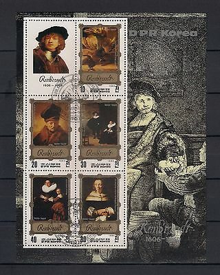 KOREA DPR 1983  Rembrandt Paintings  USED - 2