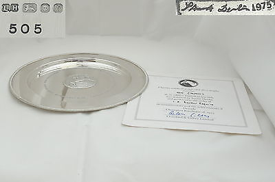 Rare Qe Ii Sterling Silver Grundy Horse Racing Plate 1976
