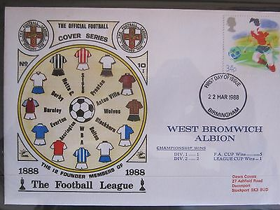 Great Britain Stamps First Day Cover FDC  Football League West Bromwich Albion