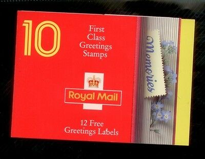 Below Face Value GB  Booklet KX4 with 10 @ 1st Class Stamps memories