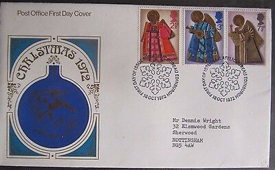 Great Britain Stamps First Day Cover FDC Christmas 1972