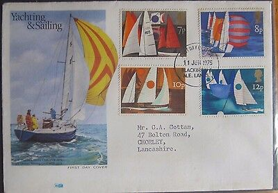 Great Britain Stamps First Day Cover FDC Yachting & Sailing 1975
