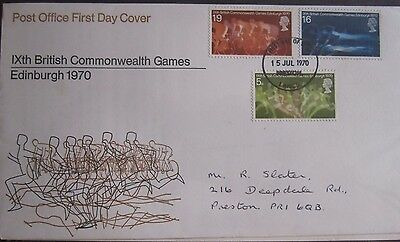 Great Britain Stamps First Day Cover FDC Commonwealth Games Edinburgh 1970