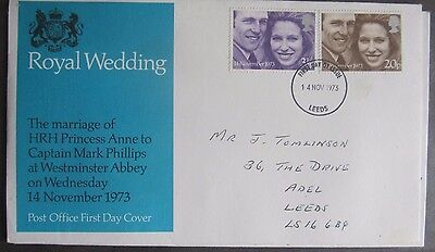 Great Britain Stamps First Day Cover FDC Royal Wedding Princess Anne Mark Philip