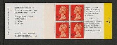 At below face value GB MNH 4 @ 1st class stamps by Walsall