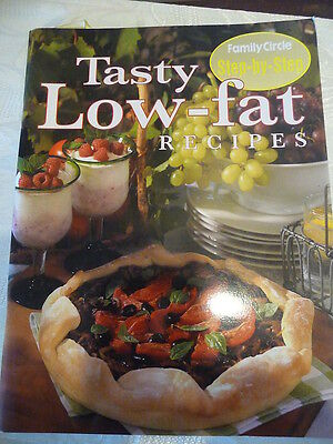 FAMILY CIRCLE Step by Step cookbook Tasty Low Fat Recipes EUC