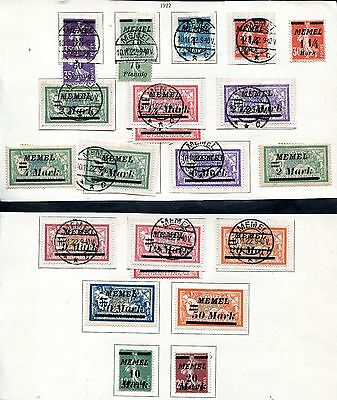 Germany German Poland 1922 Memel On France Stamps Used & Mh