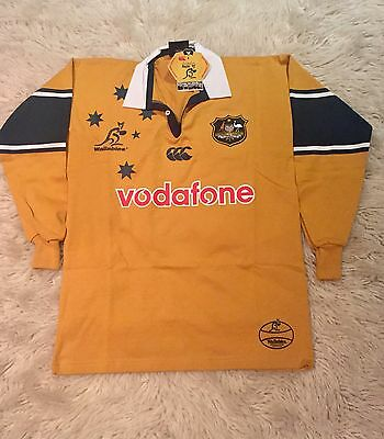 WALLABIES 2000-2001 JERSEY NEW/TAGS Size M LONG SLEEVE RUGBY UNION