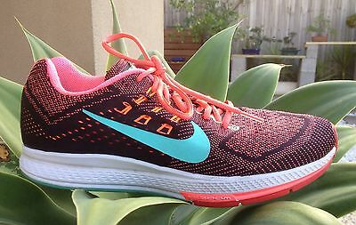 Womens Nike Structure 18 Pattern Sports Running Trainers Sneakers Shoes Sz 10