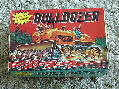 Bulldozer Series 3 Modern Toys Box Schachtel Package Made in Japan 60er Jahre