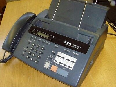 Fax machine, copier & telephone  BROTHER 920  used seldom. NEW INK CARTRIDGE