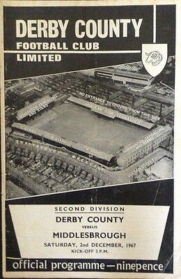 Derby County v Middlesbrough 1967/68