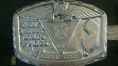 New Jersey NJ State Police Trooper Belt  Buckle Robert Baldwin Co Usa made