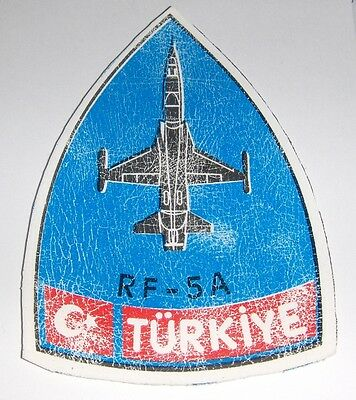 F-5 & RF-5 rubber on patch RARE 184. Filo Squadron Turkish ( Turkey ) Air Force