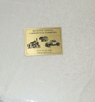 Vintage metal Event advertising Athen's Ontario Farmersville 7th annual 1986