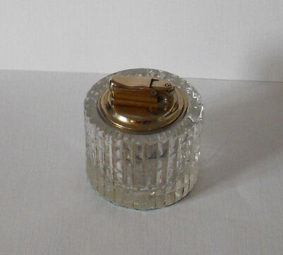 'colibri' Clear Patterned Glass Based Petrol Table Lighter