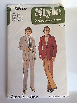 Vintage 1979 Style Sewing Pattern #2715, Men's Jacket and Trousers, UNCUT