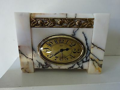 Art Deco French DEP marble mantle clock