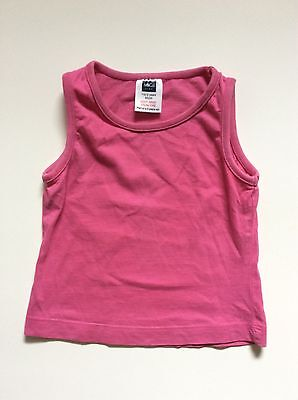 M&Co girls pink vest t-shirt 18 months - 2 years