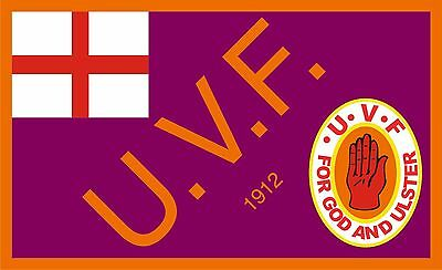 UVF Ulster Flag - 1916 WW1 Commemoration flag. 5x3 Top Quality