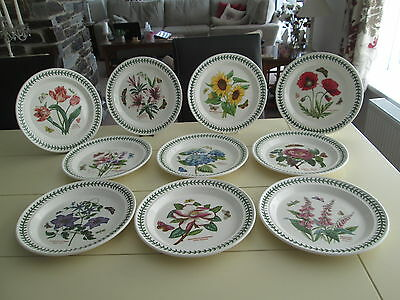 "Portmeirion Botanic Garden Large  Dinner Plates 10.5"" Wide  All New"