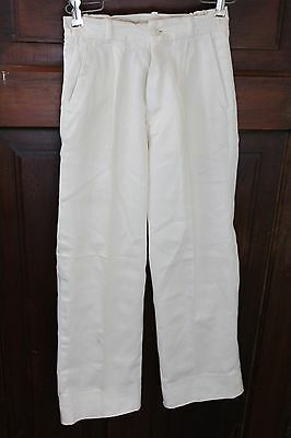 Vintage Deluxe Sport Boy 40s White Cotton Boys Dress Pants, 22 x 23