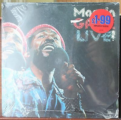 Marvin Gaye Live (in 1974) Vinyl LP - Sealed, mint record but cover damage.