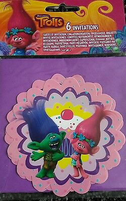 Trolls party items invites, decorations new & used