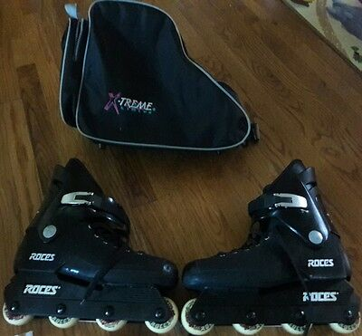 Roces aggressive inline skates, with bag lightly used size 8