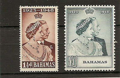 BAHAMAS 1948  Royal Silver Weding pair mint
