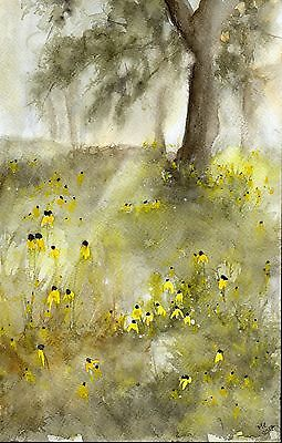 "°♡Original Aquarell, Watercolor,Landscape,Wood""Frühling im Wald♡"