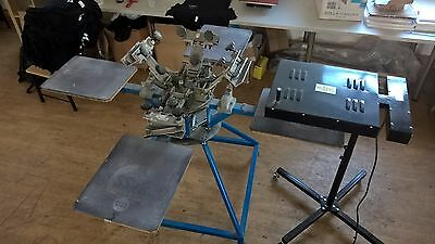 Hopkins international Screen printing press/carousel 4 colour/4 platens