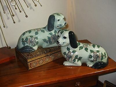 Maitland Smith Staffordshire Blue Dogs (pair) Decorator Design