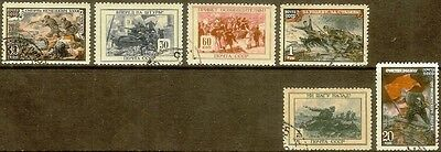Russia,Sc#974-979,(Full Set),Fresh,CTO OG and Used,VF