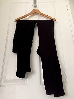 2 X Comfy Mothercare Maternity Leggings (1 Size 10 & 1 One Size)