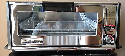 *Nearly New* Vintage GE General Electric Deluxe TOAST-R-OVEN Chrome. Tested 👍
