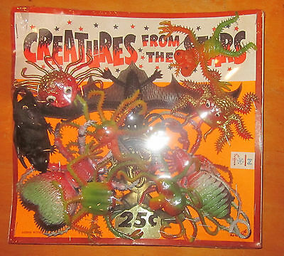 Vending Card 1970s Rubber Ugly monster jigglers Creatures from the Stars