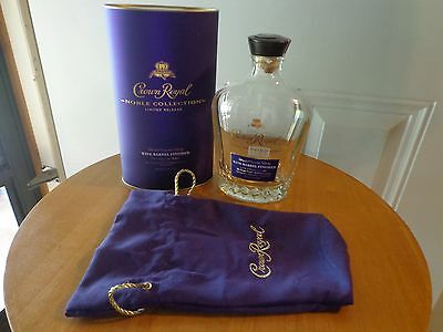 Crown Royal Noble collection Wine Barrel finished Limited Release empty bottle +