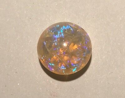 6.5 ct TCW NATURAL ETHIOPIAN WELO MULTI-FIRE OPAL CABOCHON OVAL LOOSE STONE