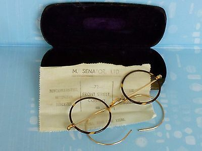 A Pair Of Antique Windsor/art Deco  Spectacles Cased