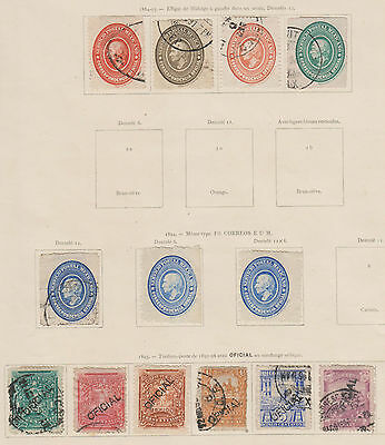 Mexico - Early m+u Officials Collection 1884-1921, CV $800 + (5 scans)