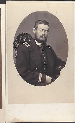 Civil War Era CDV of Union Naval Officer Hazard Marsh USS St. Louis