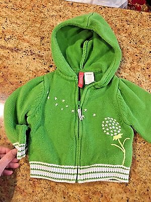 "Gymboree girls ""DANDELION WISHES"" 12-18 months HOODIE SWEATER...LS GREEN"