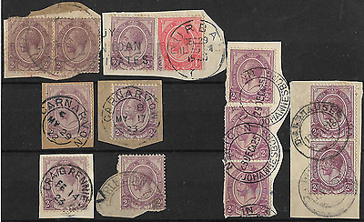 South Africa 1913 KGV SG6 2d Selective Group of Postmarks on Paper Used #1