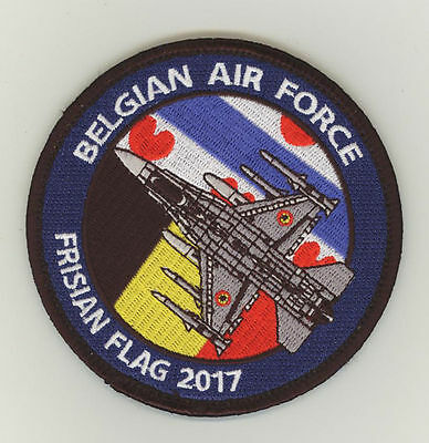 Frisian Flag 2017 Leeuwarden: Belgian Air Force 2 & 10 Wing F-16AM, Velcro Patch